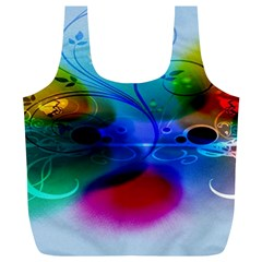 Abstract Color Plants Full Print Recycle Bags (l)
