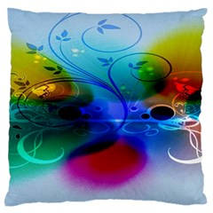 Abstract Color Plants Large Flano Cushion Case (two Sides) by BangZart