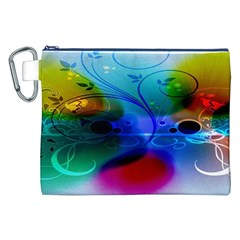 Abstract Color Plants Canvas Cosmetic Bag (xxl) by BangZart