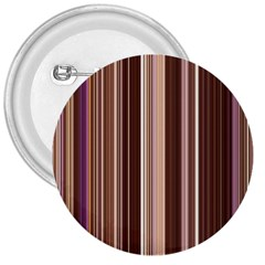 Brown Vertical Stripes 3  Buttons
