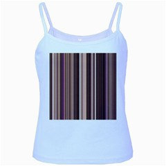 Brown Vertical Stripes Baby Blue Spaghetti Tank