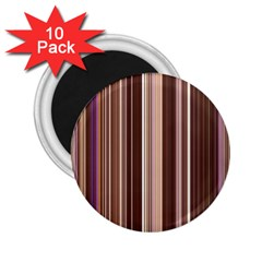 Brown Vertical Stripes 2 25  Magnets (10 Pack)