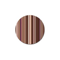 Brown Vertical Stripes Golf Ball Marker by BangZart