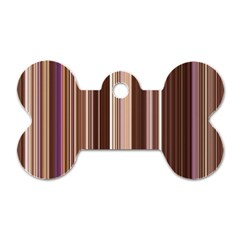 Brown Vertical Stripes Dog Tag Bone (two Sides) by BangZart