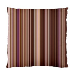 Brown Vertical Stripes Standard Cushion Case (two Sides)