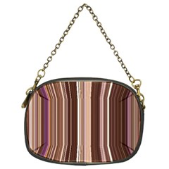 Brown Vertical Stripes Chain Purses (two Sides)