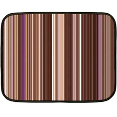 Brown Vertical Stripes Double Sided Fleece Blanket (mini)  by BangZart