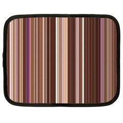 Brown Vertical Stripes Netbook Case (xxl)  by BangZart