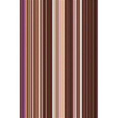 Brown Vertical Stripes 5 5  X 8 5  Notebooks by BangZart