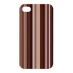 Brown Vertical Stripes Apple Iphone 4/4s Premium Hardshell Case by BangZart
