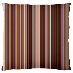 Brown Vertical Stripes Large Cushion Case (one Side)