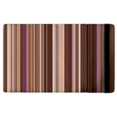Brown Vertical Stripes Apple Ipad 3/4 Flip Case by BangZart