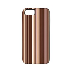 Brown Vertical Stripes Apple Iphone 5 Classic Hardshell Case (pc+silicone) by BangZart