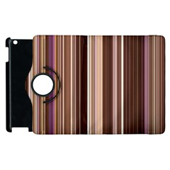 Brown Vertical Stripes Apple Ipad 3/4 Flip 360 Case