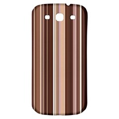 Brown Vertical Stripes Samsung Galaxy S3 S Iii Classic Hardshell Back Case by BangZart