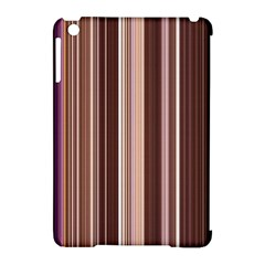 Brown Vertical Stripes Apple Ipad Mini Hardshell Case (compatible With Smart Cover) by BangZart