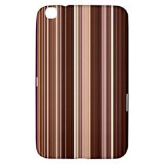 Brown Vertical Stripes Samsung Galaxy Tab 3 (8 ) T3100 Hardshell Case