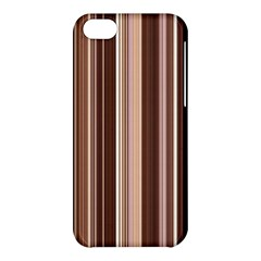 Brown Vertical Stripes Apple Iphone 5c Hardshell Case by BangZart