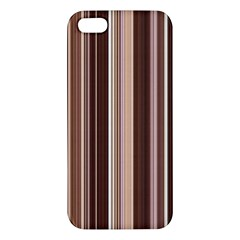 Brown Vertical Stripes Iphone 5s/ Se Premium Hardshell Case by BangZart