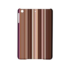 Brown Vertical Stripes Ipad Mini 2 Hardshell Cases by BangZart