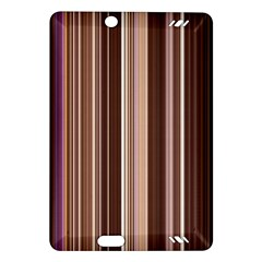 Brown Vertical Stripes Amazon Kindle Fire Hd (2013) Hardshell Case by BangZart