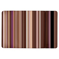 Brown Vertical Stripes Ipad Air Flip