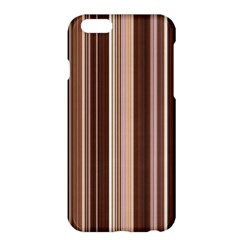 Brown Vertical Stripes Apple Iphone 6 Plus/6s Plus Hardshell Case by BangZart