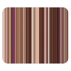 Brown Vertical Stripes Double Sided Flano Blanket (small)