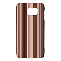 Brown Vertical Stripes Galaxy S6