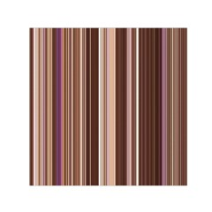 Brown Vertical Stripes Small Satin Scarf (square) by BangZart