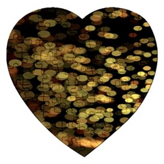 Blurry Sparks Jigsaw Puzzle (heart) by BangZart