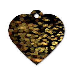 Blurry Sparks Dog Tag Heart (two Sides)