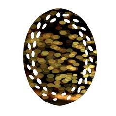 Blurry Sparks Oval Filigree Ornament (two Sides) by BangZart
