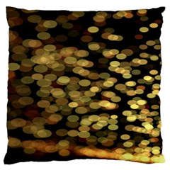 Blurry Sparks Large Flano Cushion Case (two Sides) by BangZart