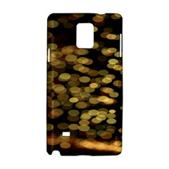 Blurry Sparks Samsung Galaxy Note 4 Hardshell Case by BangZart