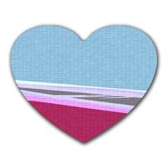 Cracked Tile Heart Mousepads by BangZart