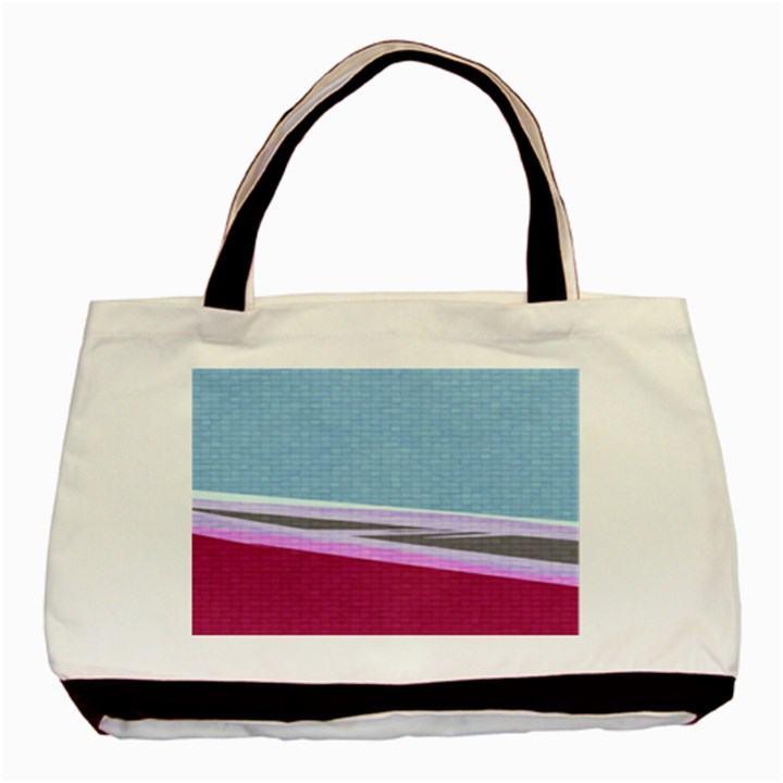 Cracked Tile Basic Tote Bag (Two Sides)