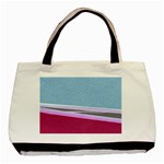 Cracked Tile Basic Tote Bag (Two Sides) Back
