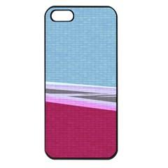 Cracked Tile Apple Iphone 5 Seamless Case (black)