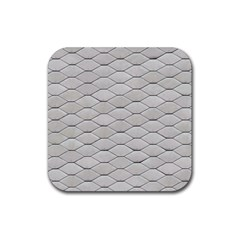 Roof Texture Rubber Square Coaster (4 Pack)