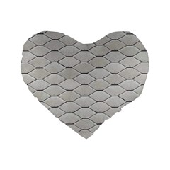Roof Texture Standard 16  Premium Heart Shape Cushions by BangZart