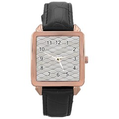 Roof Texture Rose Gold Leather Watch  by BangZart