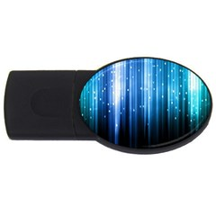 Blue Abstract Vectical Lines Usb Flash Drive Oval (2 Gb) by BangZart