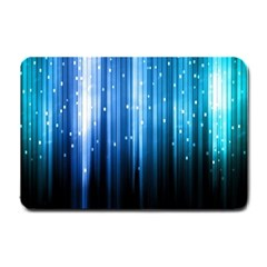 Blue Abstract Vectical Lines Small Doormat  by BangZart