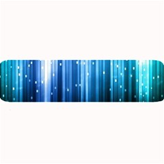 Blue Abstract Vectical Lines Large Bar Mats by BangZart