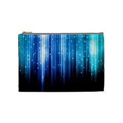 Blue Abstract Vectical Lines Cosmetic Bag (medium)  by BangZart