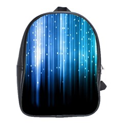 Blue Abstract Vectical Lines School Bags(large)