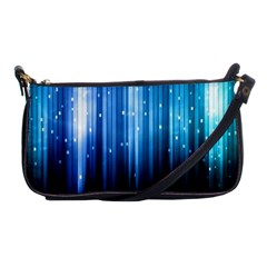 Blue Abstract Vectical Lines Shoulder Clutch Bags