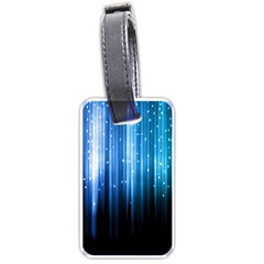 Blue Abstract Vectical Lines Luggage Tags (one Side)  by BangZart