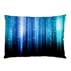 Blue Abstract Vectical Lines Pillow Case (two Sides)